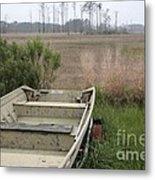 Jon Boat At Blackwater Wildlife Refuge Metal Print