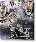 Jonathan Quick Collage Metal Print