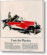 Jordan 1926 1920s Usa Cc Cars Horses Metal Print by The Advertising Archives