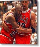 Jordan And Pippen Metal Print
