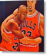 Jordan And Pippen Metal Print