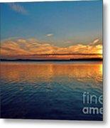 Jordan Lake Sunset 2 Metal Print by Kelly Nowak
