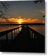 Jordan Lake Sunset Metal Print