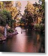 Jordan River At Dusk Metal Print by Lawrence Berke