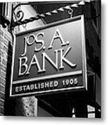 Jos. A. Bank Metal Print