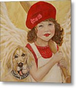 Joscelyn And Jolly Little Angel Of Playfulness Metal Print