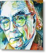 Jose Saramago Portrait Metal Print