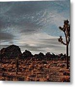 Joshua Tree Hidden Valley Panorama Metal Print