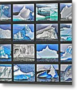 Journey's End For Vanishing Icebergs Assemblage In Saint Anthony-newfoundland  Metal Print