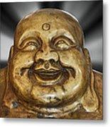 Jovial Buddha Metal Print