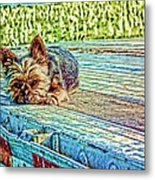 'jovie' Truckin Dogs Need Breaks Too Metal Print