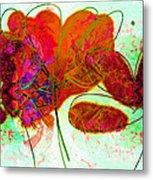 Joy Flower Abstract Metal Print
