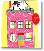 Joy House Card Metal Print by Linda Woods