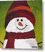 Joyce The Snowman Metal Print
