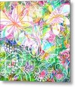 Joyful Flowers By Jan Marvin Metal Print