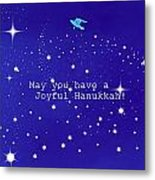 Joyful Hanukkah Card  Metal Print