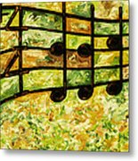 Joyful - Lemon Lime Metal Print