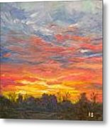 Joyful Sunset Metal Print