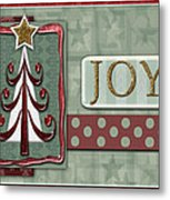 Joyful Tree Card Metal Print