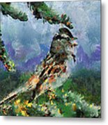 Joyfull Bird Metal Print