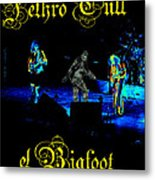Jt #38 Enhanced In Cosmicolors With Text And Bigfoot 2 Metal Print
