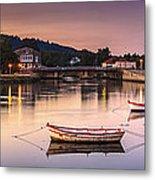 Jubia River Panorama Neda Naron Galicia Spain Metal Print