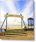 Jubilee Beach Southend On Sea Metal Print