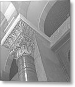 Jubilee Synagogue Black And White Metal Print