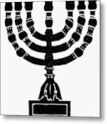 Judaism Candelabra Metal Print