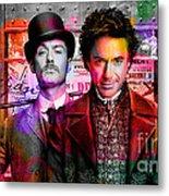 Jude Law And Robert Downey Jr Metal Print