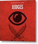 Judges Books Of The Bible Series Old Testament Minimal Poster Art Number 7 Metal Print