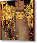 Judith And The Head Of Holofernes - Judith I Metal Print