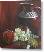 Jug With Frosty Grapes Metal Print