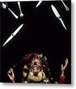 Jester Juggling Metal Print