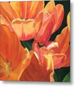 Julie's Tulips Metal Print