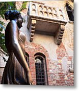 Juliet's Balcony In Verona Italy Metal Print
