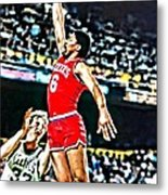 Julius Erving Metal Print