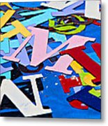 Jumble Of Letters Metal Print