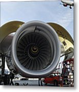 Jumbo Jet Engine And Aerospace Metal Print