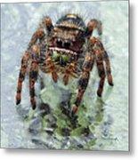 Jumper Spider 4 Metal Print