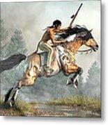 Jumping Horse Metal Print