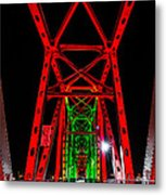 Junction Bridge - Red Metal Print