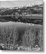June Lake Black And White Metal Print