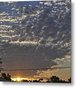 June Sunrise From The Series The Imprint Of Man In Nature Metal Print