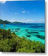 Jungle And Turquoise Water Metal Print