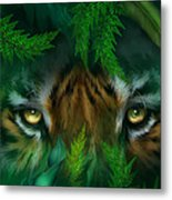 Jungle Eyes - Tiger Metal Print
