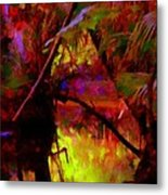 Jungle Fire Metal Print