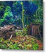 Jungle Homestead Metal Print