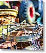 Junk Collage Metal Print