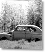 Junked Ford Car Metal Print